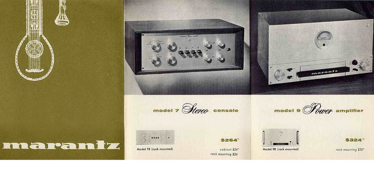 Check out this vintage Marantz magazine ad from the 1960's.    The Marantz 7C retailed for $264. Current Value: $6000. The Marantz 9 Amplifier retailed $324. Current Value: $10,000